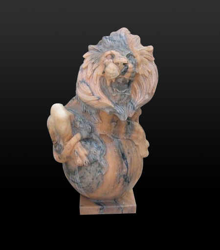 stone lion sculpture