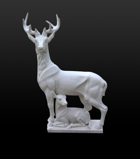 stone deer sculpture
