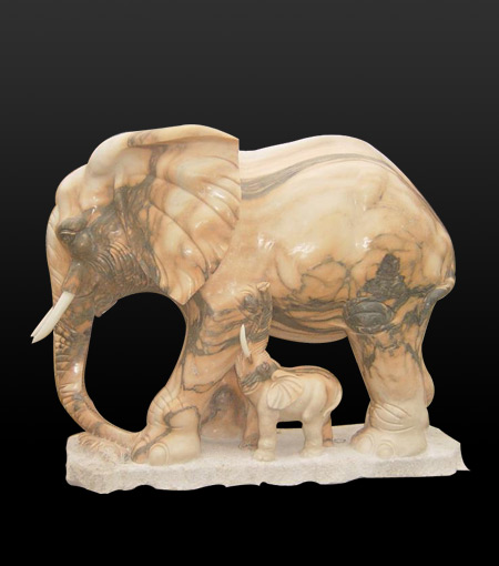 stone elephant sculpture