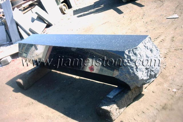 basalt column bench and table top