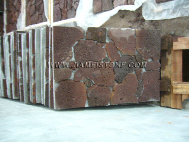 lava stone cement backed tiles