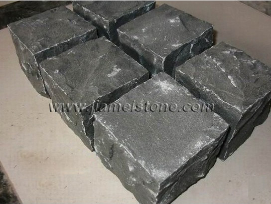black granite cobblestone,mongolian black cubes