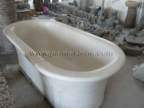 marble bathtub