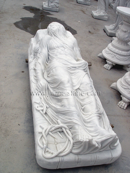 Veiled Christ marble statue