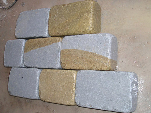 two tone color sandstone pavers