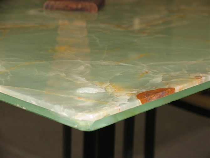 green onyx marble glass composite