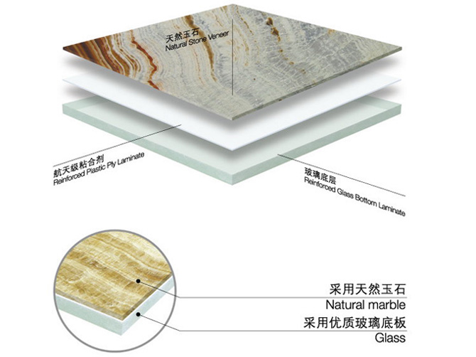 onyx marble glass composite