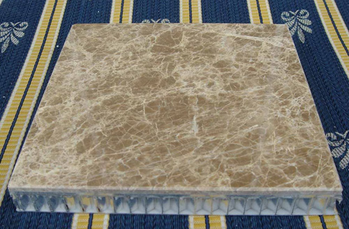 light emperador marble aluminium honeycomb
