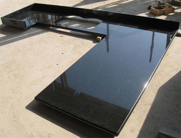 Merveilleux Black Galaxy Granite Countertop Black Galaxy Granite Countertop ...