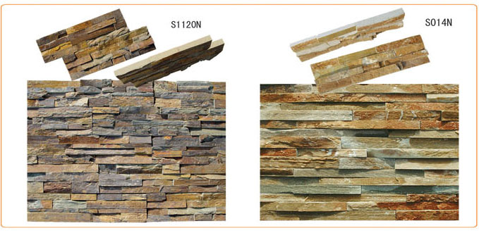 featuring ledge stone cultured walls in slate