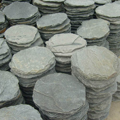 Slate stepping stone quartzite round pavers sandstone Round wooden stepping stones