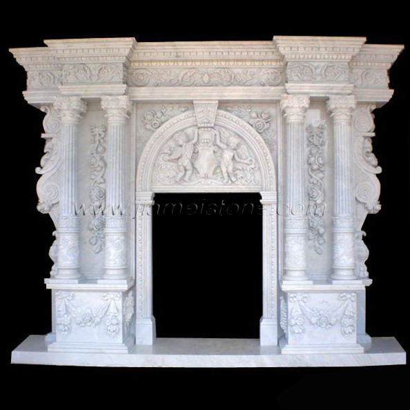 marble fireplace mantel