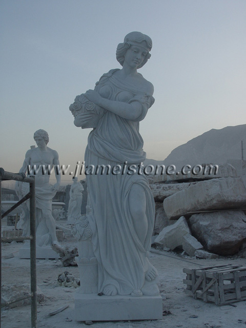 large marble statue