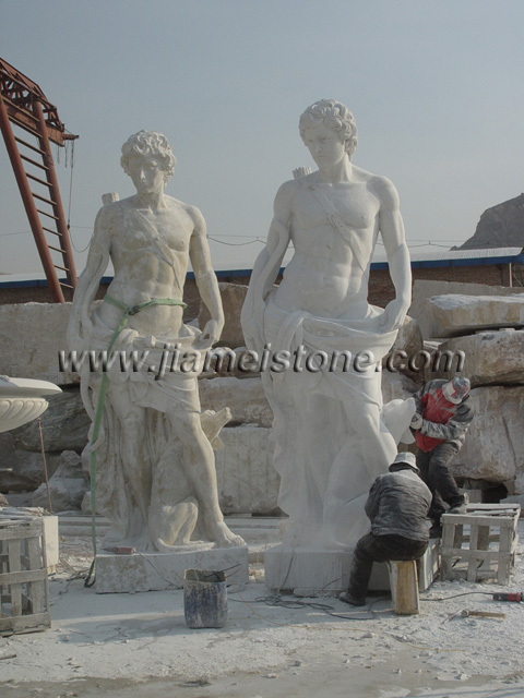 large garden statues