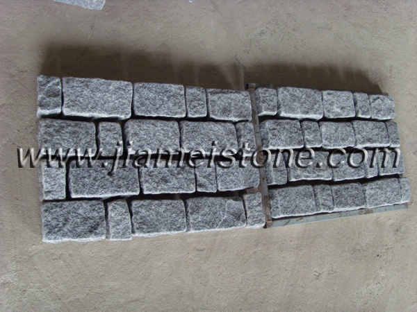 mesh backed granite pavers