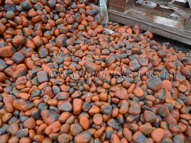 red brick pebbles