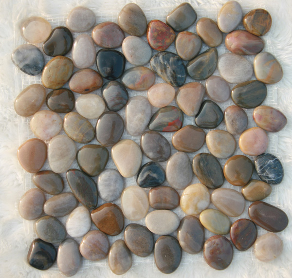 mixed pebble tiles