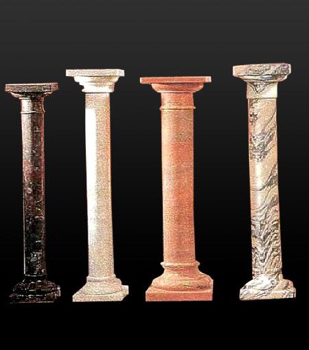 Stone Column Base : Marble pillars stone columns roman style and greek caps