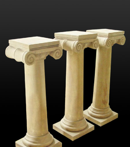 Marble Pillars Stone Columns Roman Style And Greek Caps