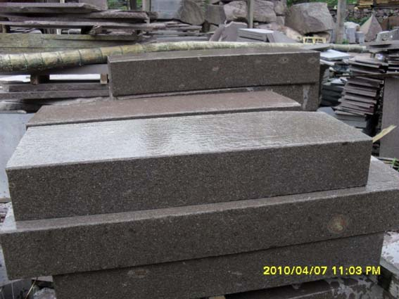 porphyry block steps, porfido block stair