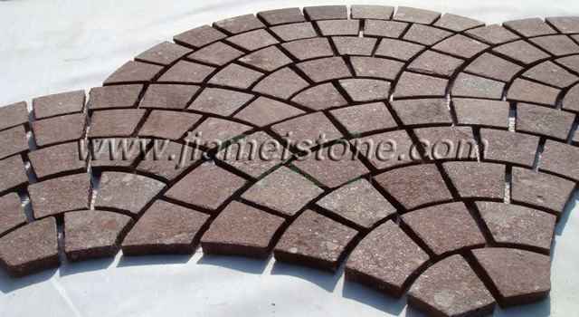 porphyry cobblestone, red porfido