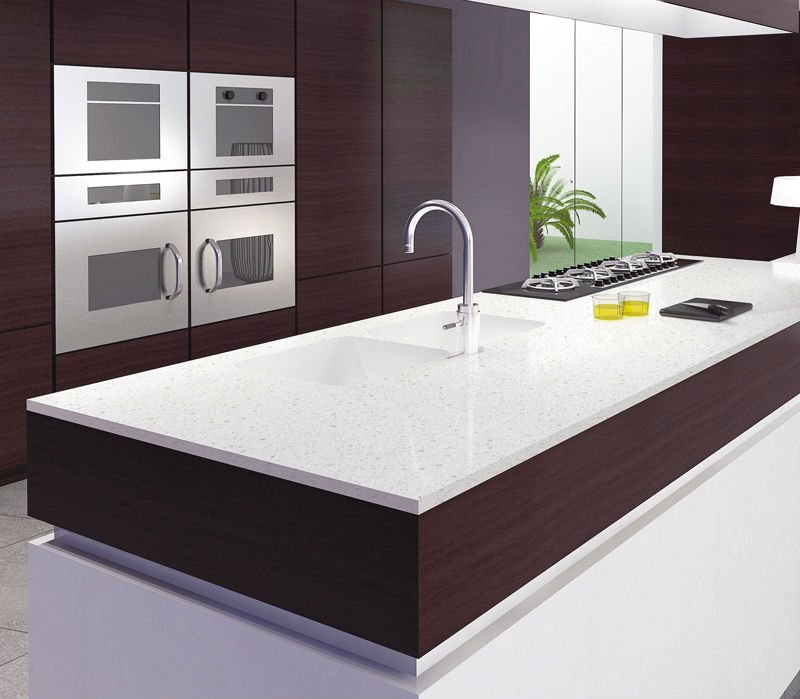Engineered Stone Countertops 007 · Quartz Kitchen Countertops Engineered Stone  Countertops 008