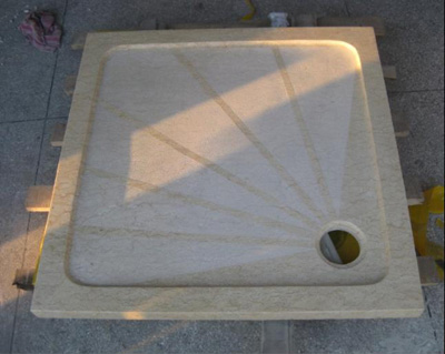 beige marble shower trays
