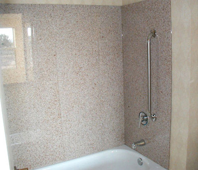 Spray White; Granite Shower Wall Panels Part 74