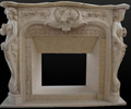 marble fireplace, travertine fireplace