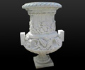 marble flowerpot, marble planter