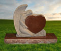 heart design headstone, heart design monument