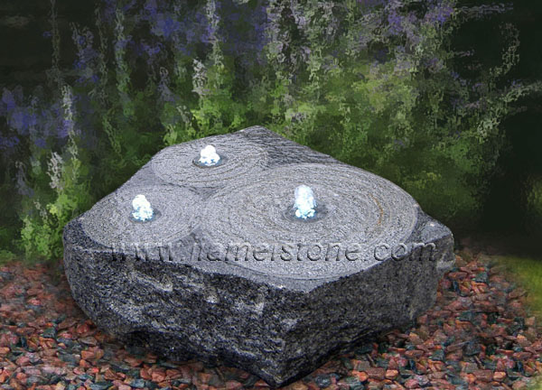 stone water feature